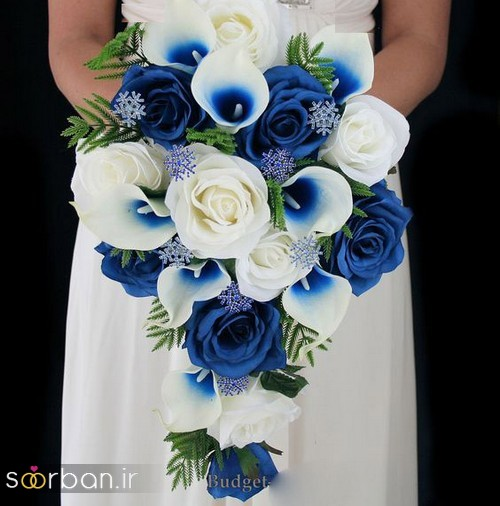 دسته گل عروس آبی 18
