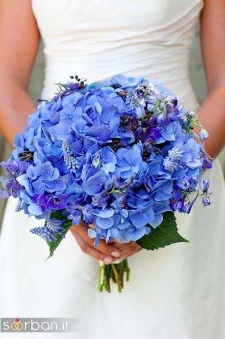 دسته گل عروس آبی 22