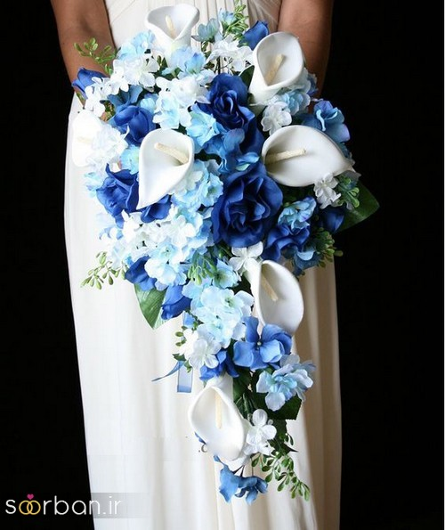 دسته گل عروس آبی 23