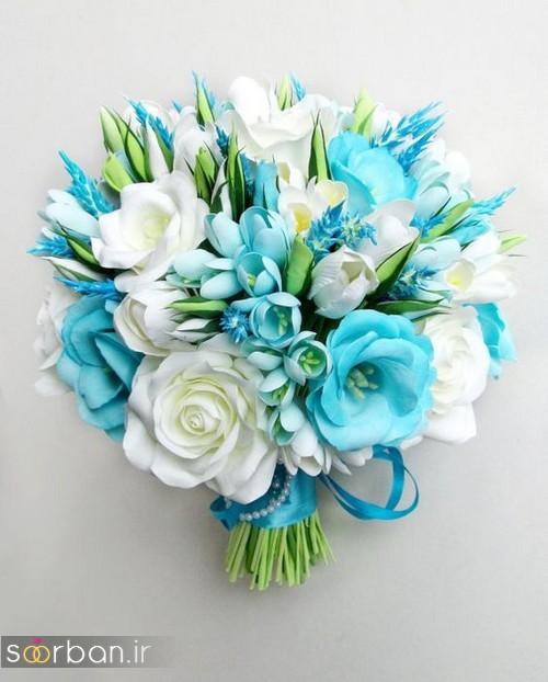دسته گل عروس آبی 26