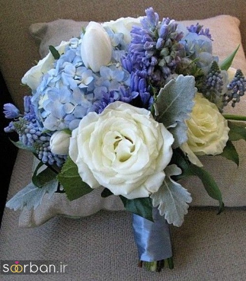 دسته گل عروس آبی27