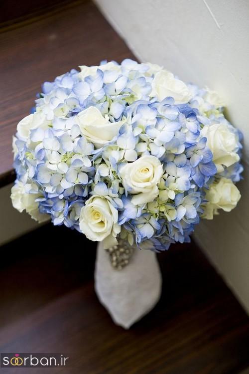 دسته گل عروس آبی 28