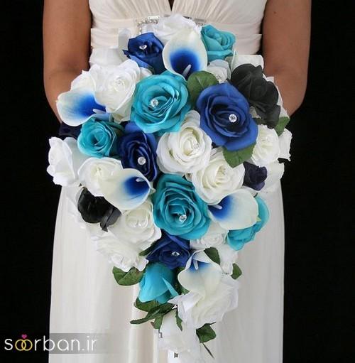 دسته گل عروس آبی 29