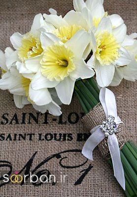 دسته گل عروس نرگس زیبا 2