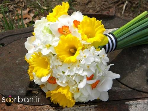 دسته گل عروس نرگس زیبا 8