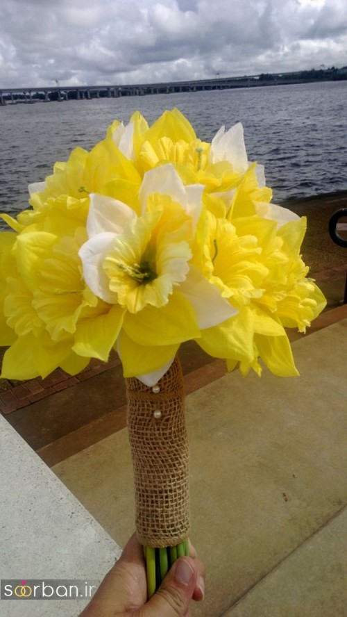 دسته گل عروس نرگس زیبا 10