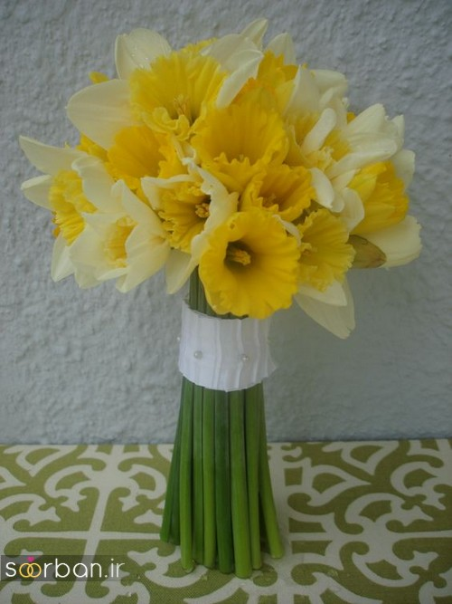 دسته گل عروس نرگس زیبا 13