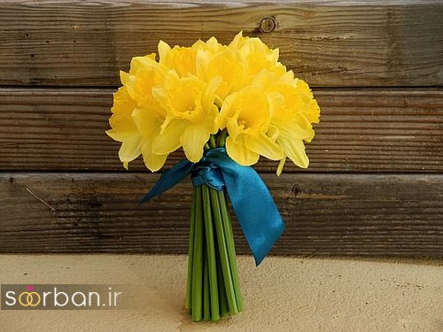 دسته گل عروس نرگس زیبا15