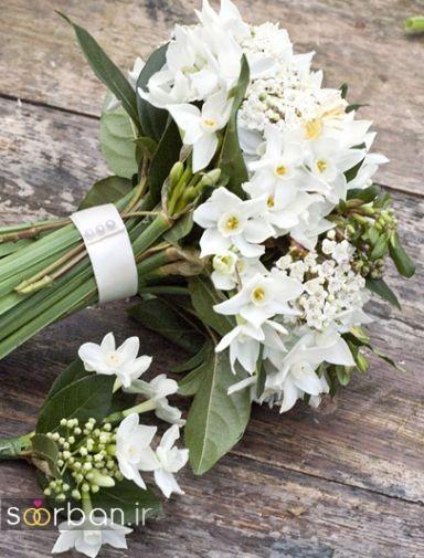 دسته گل عروس نرگس زیبا 19
