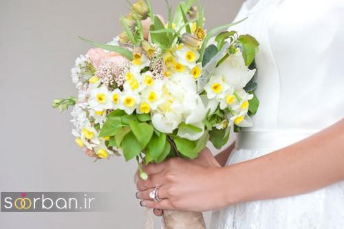 دسته گل عروس نرگس زیبا 18