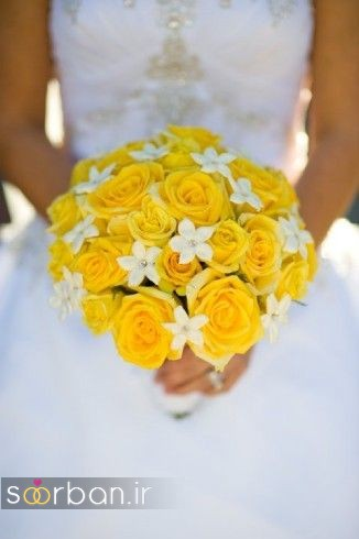 دسته گل عروس زرد جدید 14