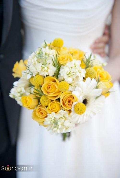دسته گل عروس زرد جدید 6