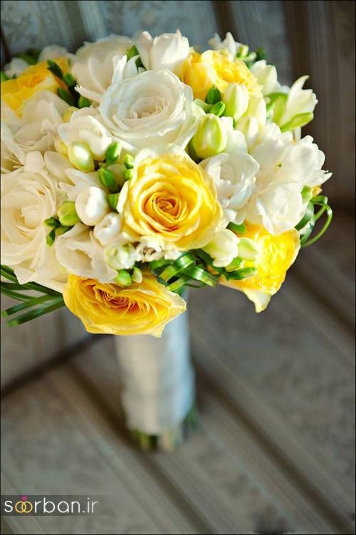 دسته گل عروس زرد جدید 2