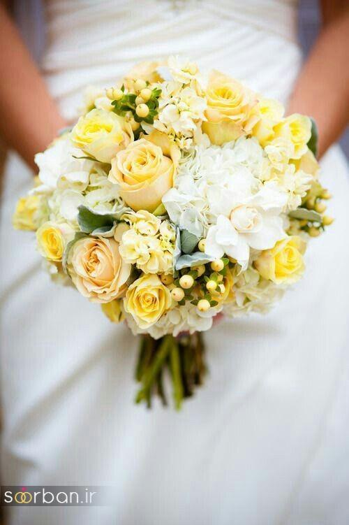 دسته گل عروس زرد جدید 8