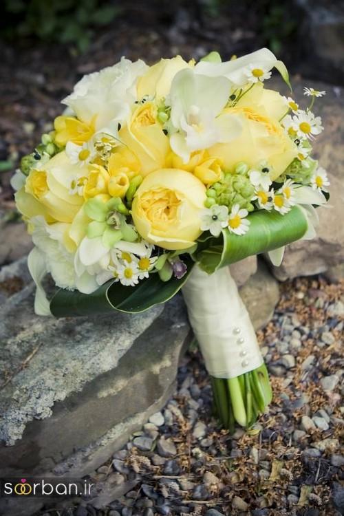 دسته گل عروس زرد جدید 10