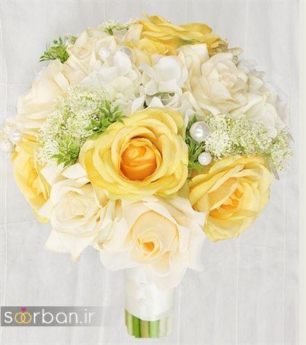 دسته گل عروس زرد جدید 18