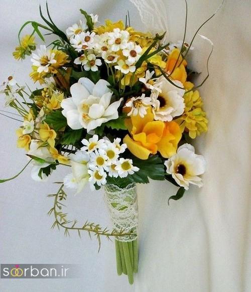دسته گل عروس زرد جدید712