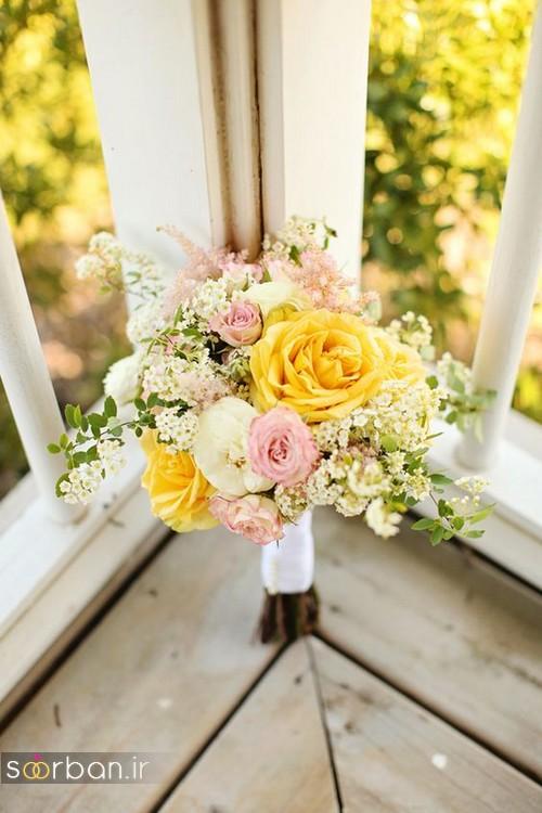 دسته گل عروس زرد جدید 21