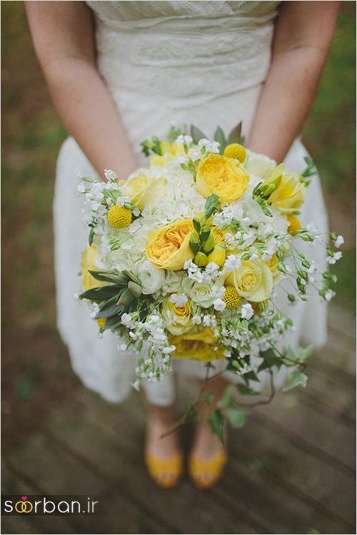 دسته گل عروس زرد جدید 22