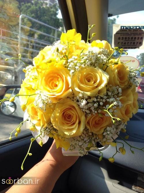 دسته گل عروس زرد جدید 23
