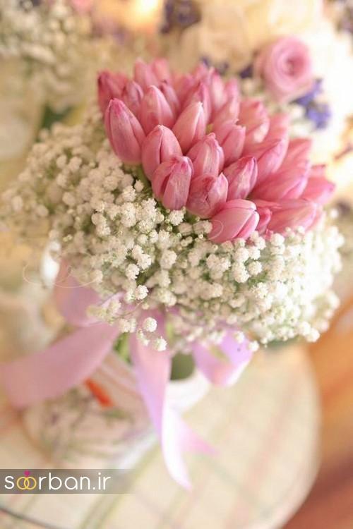 دسته گل عروس لاله 1