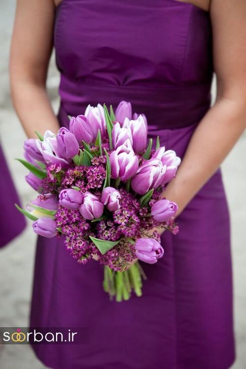 دسته گل عروس لاله 4