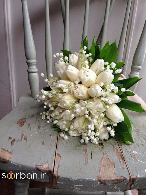دسته گل عروس لاله 5