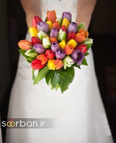 دسته گل عروس لاله 8