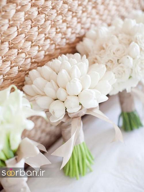 دسته گل عروس لاله 9