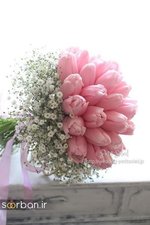 دسته گل عروس لاله 11