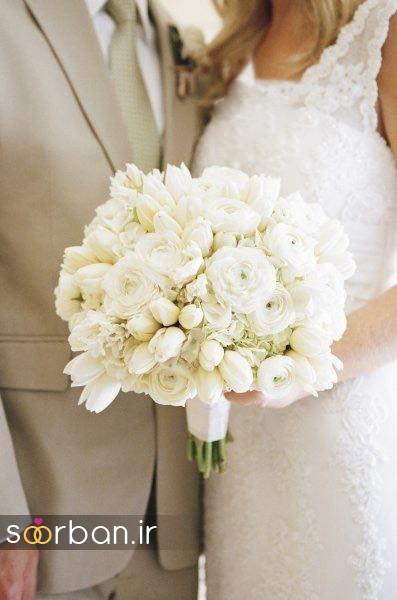 دسته گل عروس لاله 13