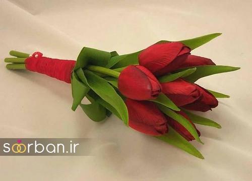 دسته گل عروس لاله 15