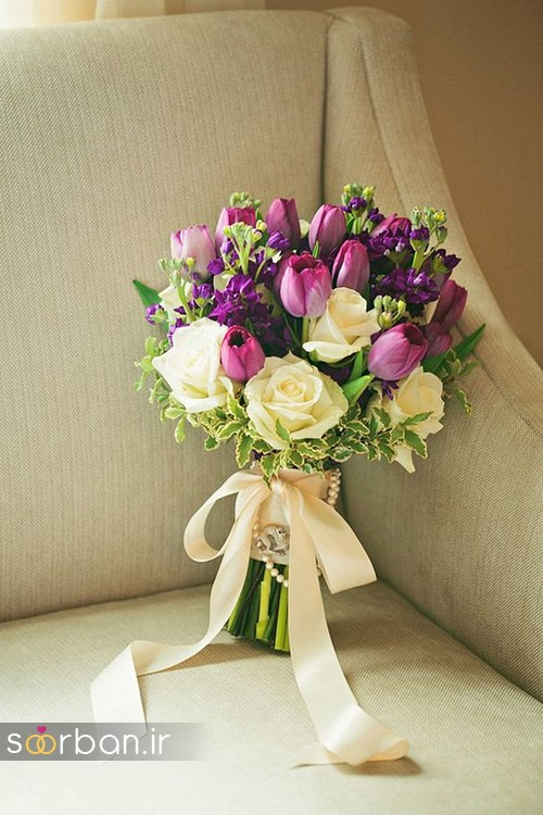 زیباترین دسته گل های عروس گل لاله که شما عاشقشان می شوید!