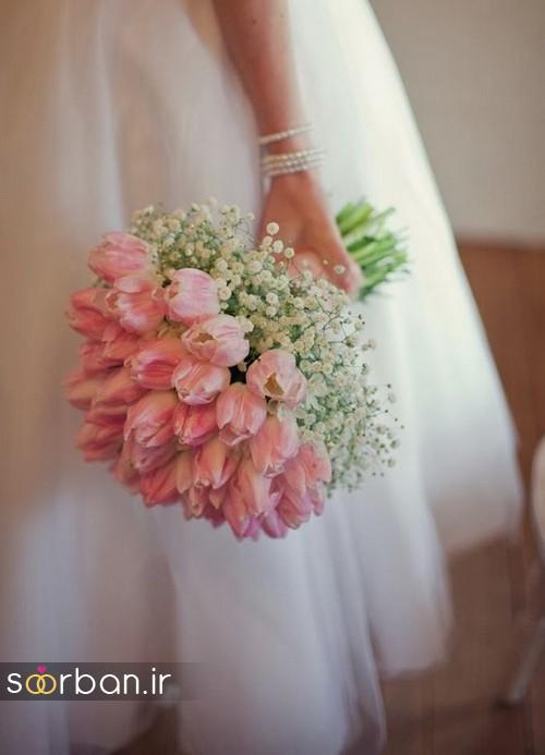 دسته گل عروس لاله 19