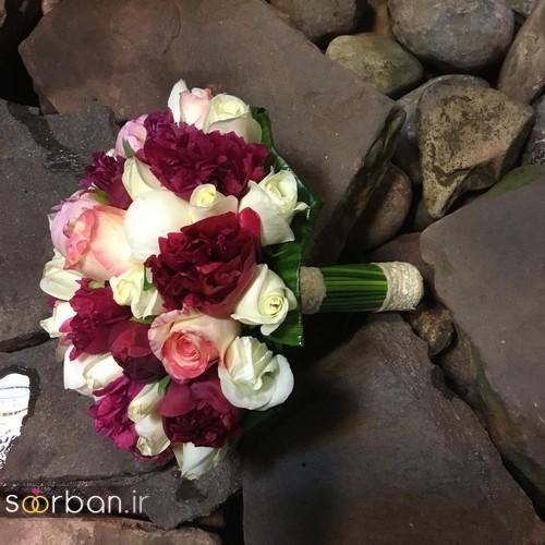 دسته گل عروس ایرانی جدید-12