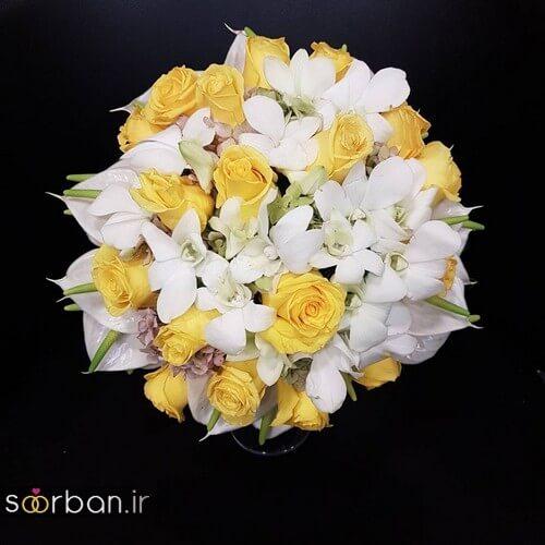 دسته گل عروس ایرانی جدید-17