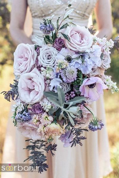 دسته گل عروس بهاری با گل های زیبا و رنگارنگ -6