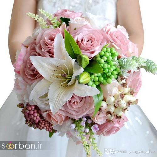 دسته گل عروس لیلیم4