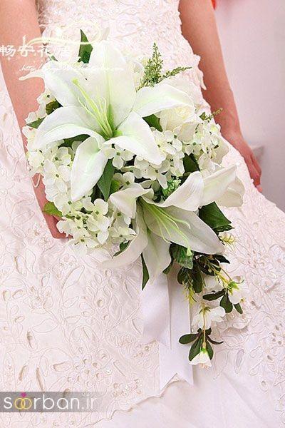 دسته گل عروس لیلیم7