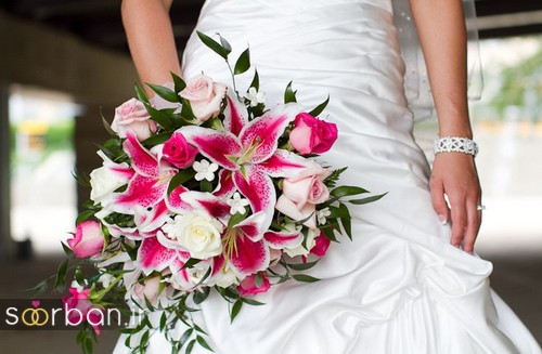 دسته گل عروس لیلیم9