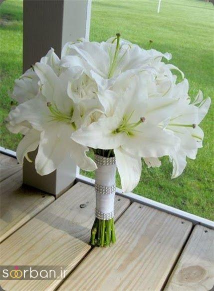 دسته گل عروس لیلیم10