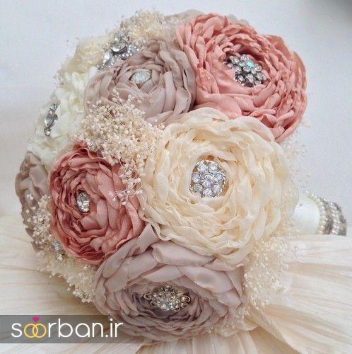 دسته گل عروس پارچه ای1