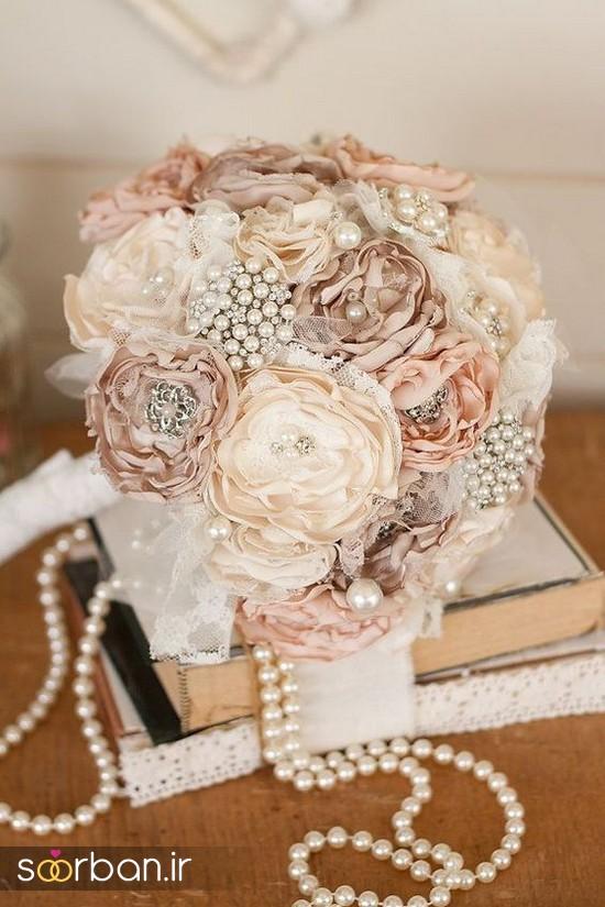 دسته گل عروس پارچه ای2
