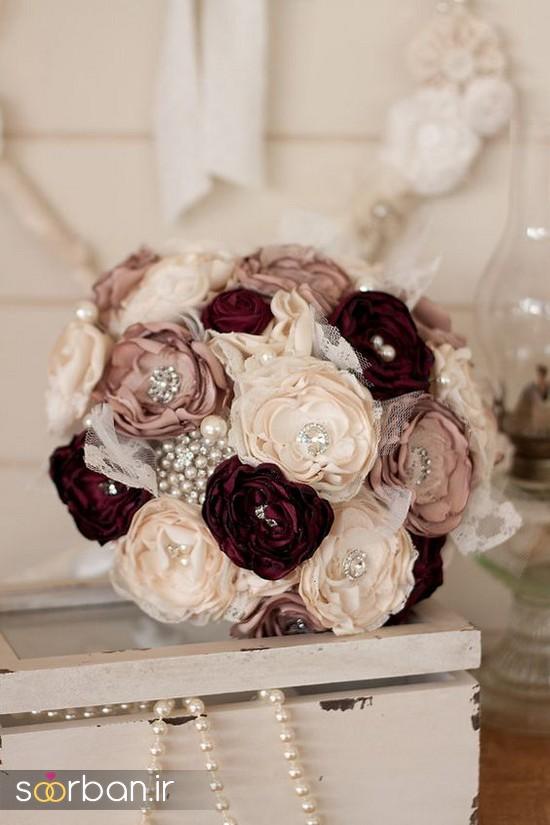 دسته گل عروس پارچه ای3