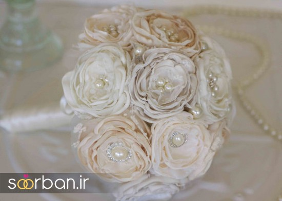 دسته گل عروس پارچه ای5