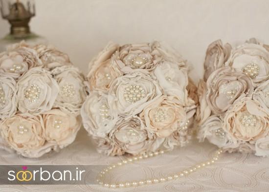 دسته گل عروس پارچه ای8