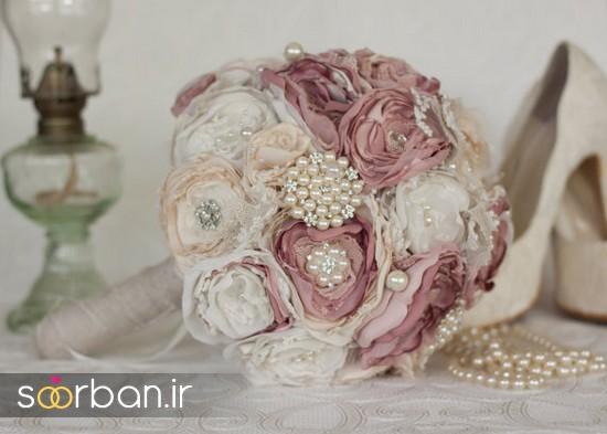 دسته گل عروس پارچه ای11
