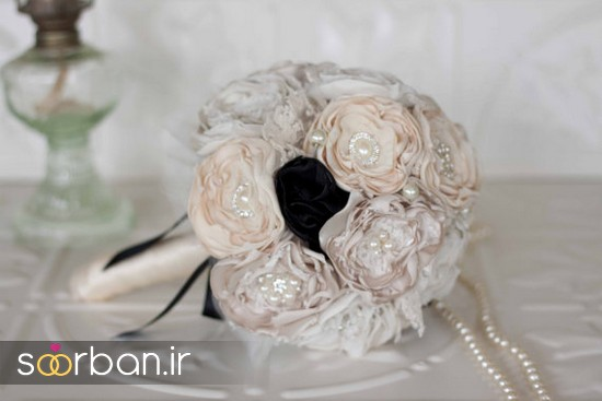 زیباترین دسته گل عروس پارچه ای جدید