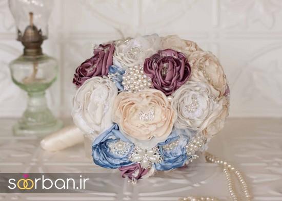 دسته گل عروس پارچه ای15