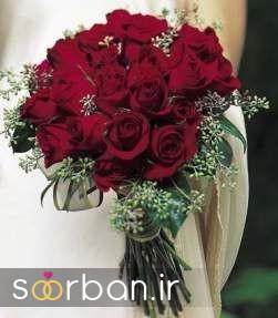 دسته گل عروس رز قرمز 7